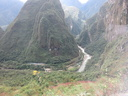 view from bus to Machu Picchu
