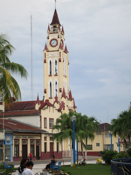 church in Plaza de Armas, Iquitos