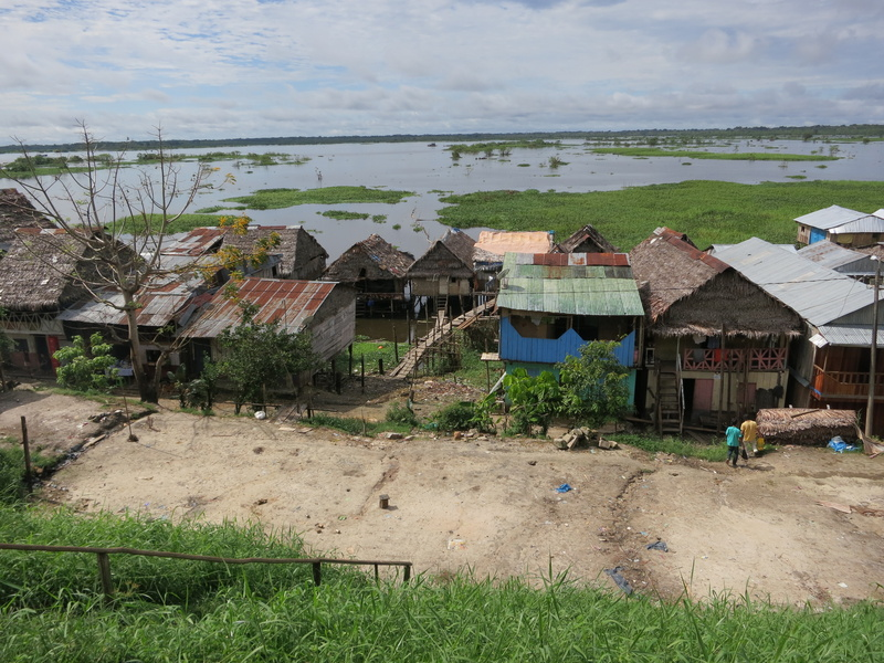 Iquitos homes along Amazon river