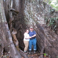 Curtis and Leah at giant ceiba tree