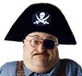 Head of the Bloglines downtime plumber, as a pirate